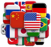 World flags collection Royalty Free Stock Photography