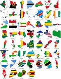 World flags - country border - African set Stock Images