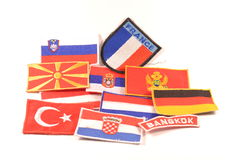 World flags emblems Stock Images