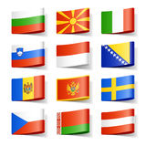 World flags. Europe. Royalty Free Stock Image