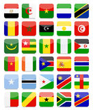 World Flags Flat Square Icon Set Stock Images