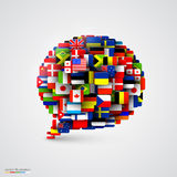 World flags in form of speech bubble Stock Images