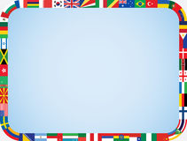 World flags frame Royalty Free Stock Photography