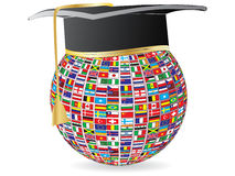 World flags graduation royalty free illustration
