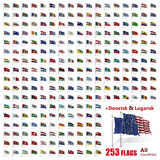 World Flags Icon Set Collection - All Sovereign States Royalty Free Stock Images