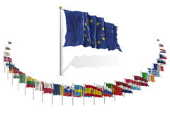 World Flags Icon Set Collection - European Union States Royalty Free Stock Photos