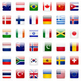 World Flags Icon Set Stock Photos