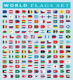 World Flags icon, vector illustration. Royalty Free Stock Images