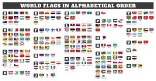 Free World Flags In Alphabetical Order Royalty Free Stock Images - 159865159