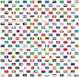 World flags isolated on white