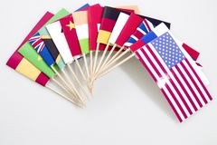 World flags isolated in a white background royalty free stock photo
