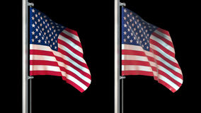 World flags loop pack 6 in 1  with background. And loop 7sec stock video footage