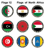 World flags. North Africa. Stock Photos