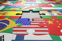 World Flags Puzzle Royalty Free Stock Images