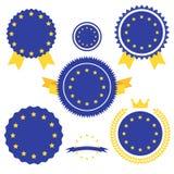 World Flags Series. Vector Flag of European Union. Royalty Free Stock Photos