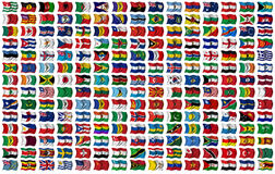 World Flags Set Stock Photography