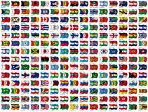 Free World Flags Set Royalty Free Stock Images - 21750139