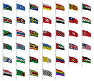 World Flags Set 4 of 4. S to Z - set of flags in alphabetical order from Solomon Islands to Zimbabwe Royalty Free Stock Photo