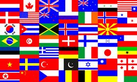World flags set multicultural choice industry stock illustration