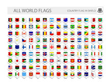 World Flags In Shields. Part 1 Stock Photos