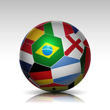 World flags soccer ball Royalty Free Stock Image