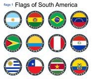 World flags. South America. Stock Images