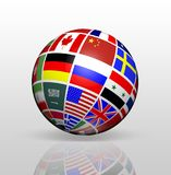 International Flags Globe stock illustration