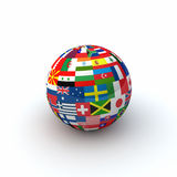 World Flags Sphere Stock Photos