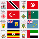 World flags and capitals set 25 Royalty Free Stock Photography