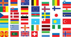 World Flags stock image