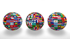 World Flags on white Royalty Free Stock Image