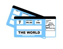 The World flight boarding pass Royalty Free Stock Image