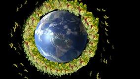 WORLD FLOWER CIRCLE stock video