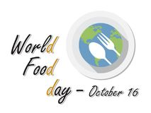 World Food Day. On October 16 Background Vector Illustration