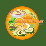 World Food Day. Vector Illustration. Greeting card, poster. Stock Images