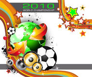 World Footbal Championship 2010 Background. Abstract Colorful World Footbal Championship 2010 Background for Party Flyers stock illustration
