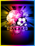 World Footbal Championship 2010 Background. Abstract Colorful World Footbal Championship 2010 Background for Party Flyers Royalty Free Stock Images