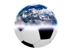 World Football. An abstract image representing world football - soccer Stock Image