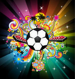 World Football ChampionShip Background. Abstrac World Football ChampionShip Disco Party Flyer Background Stock Images
