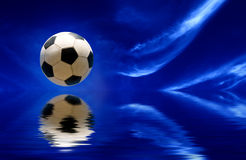 World football concept - soccer ball and sky Royalty Free Stock Photo