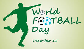 World football day, December 10 Stock Image