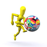 World Football Player Royalty Free Stock Photos