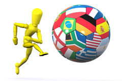 World Football Player Royalty Free Stock Photography