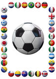 World Football Teams Frame Royalty Free Stock Photo