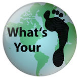 World Footprint Royalty Free Stock Photo