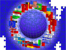 World in the form of a puzzle Royalty Free Stock Photos