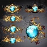 World frames set Royalty Free Stock Photos