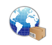 World Free Shipping Royalty Free Stock Photography