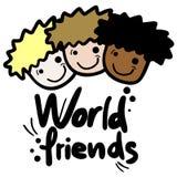 World friend. Creative design of world friend Stock Images