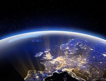 Free World From Space - Europe. Elements Of This Image Furnished By NASA 3d Rendering Royalty Free Stock Photos - 99669768